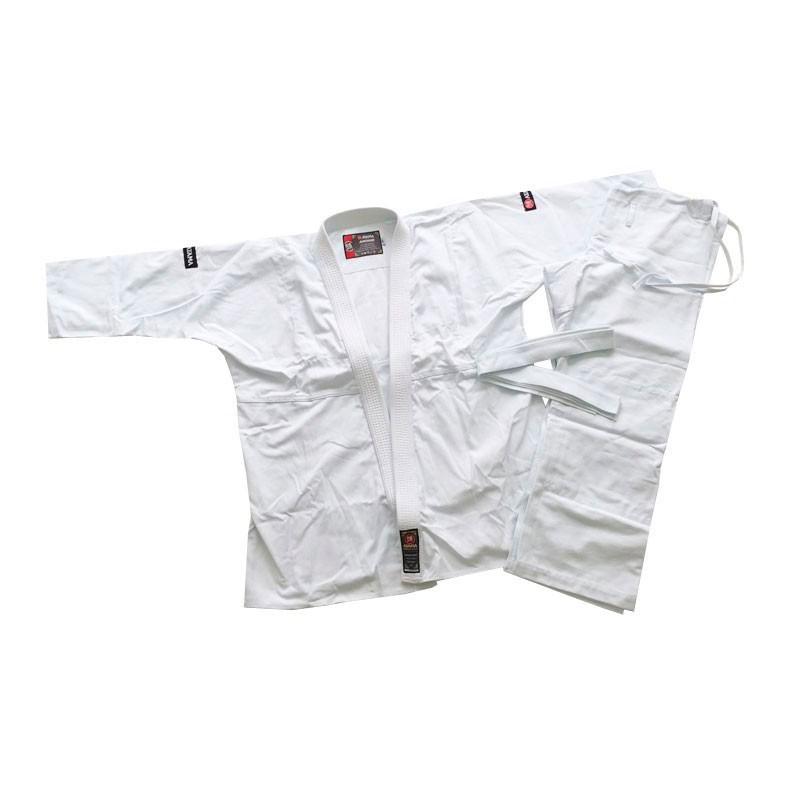 Kimono Aikido Reforçado Com Faixa Branca Brim Atama - Adulto