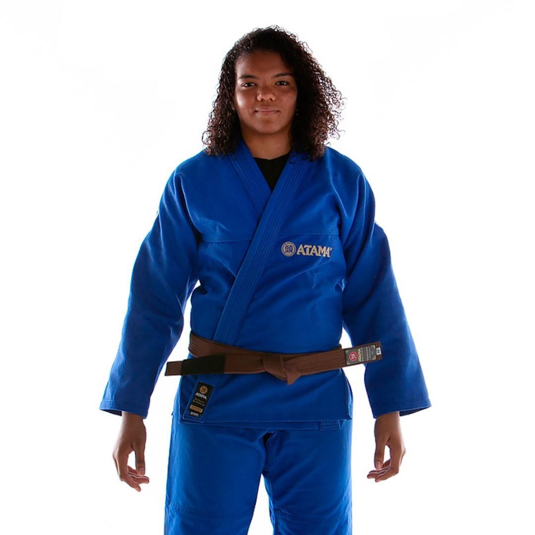 Kimono Jiu Jitsu Atama Classic Azul Feminino