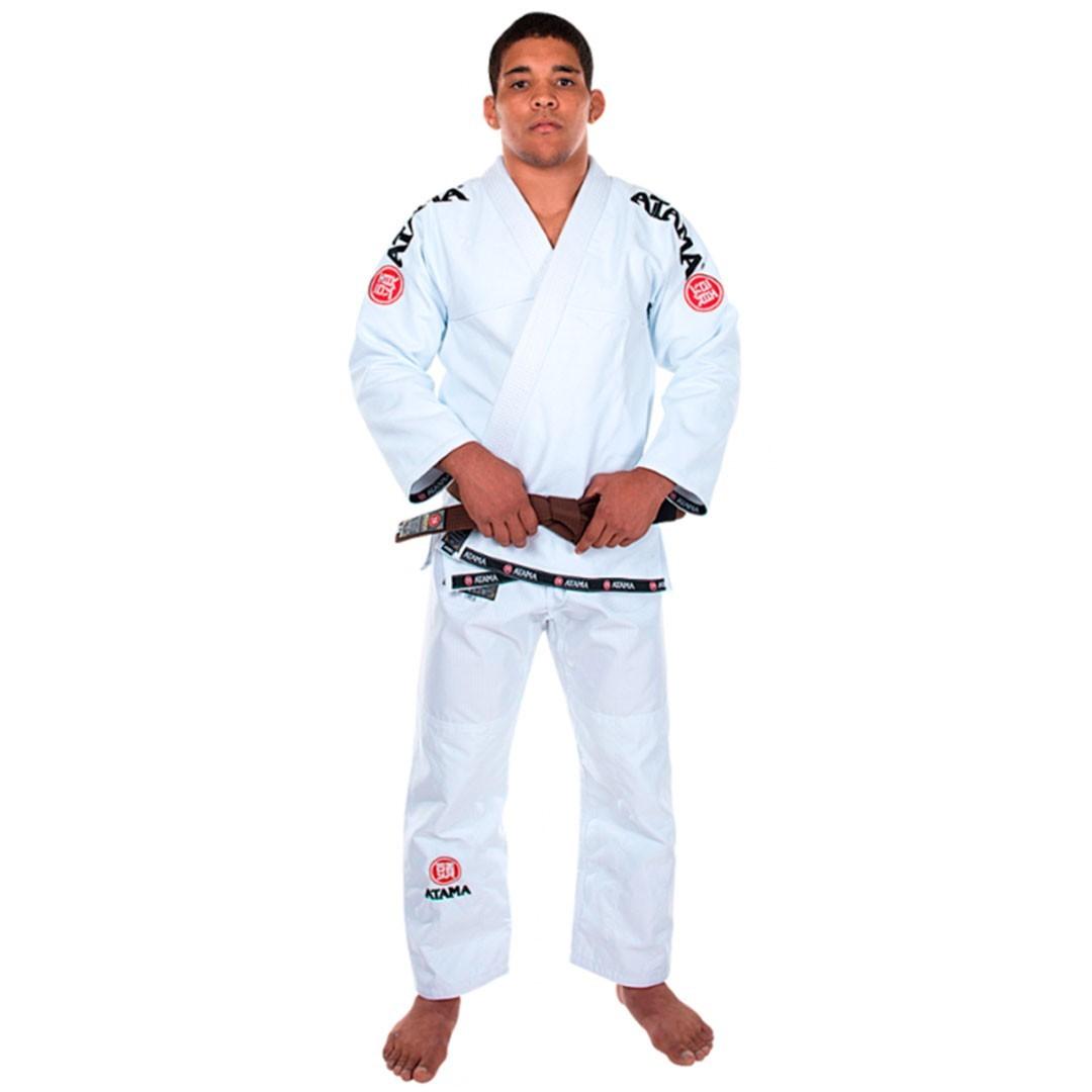Kimono  Jiu Jitsu Atama Mundial Branco Adulto Unissex