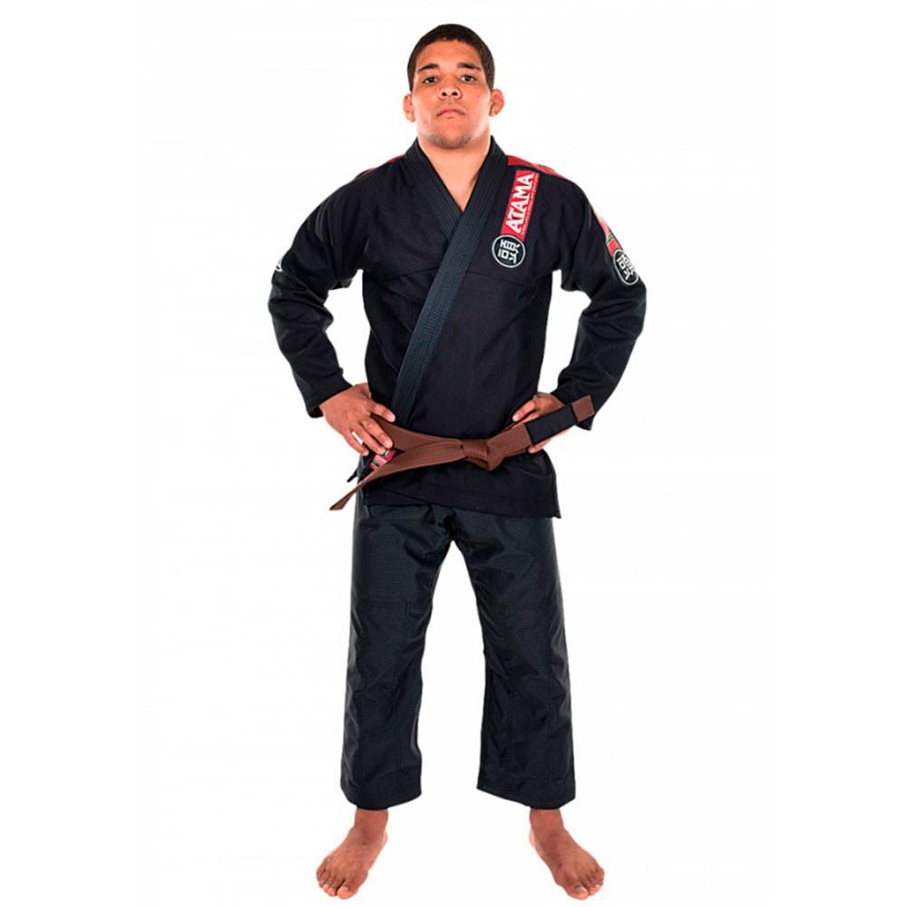 Kimono Jiu Jitsu Atama New Light Preto Adulto Unissex