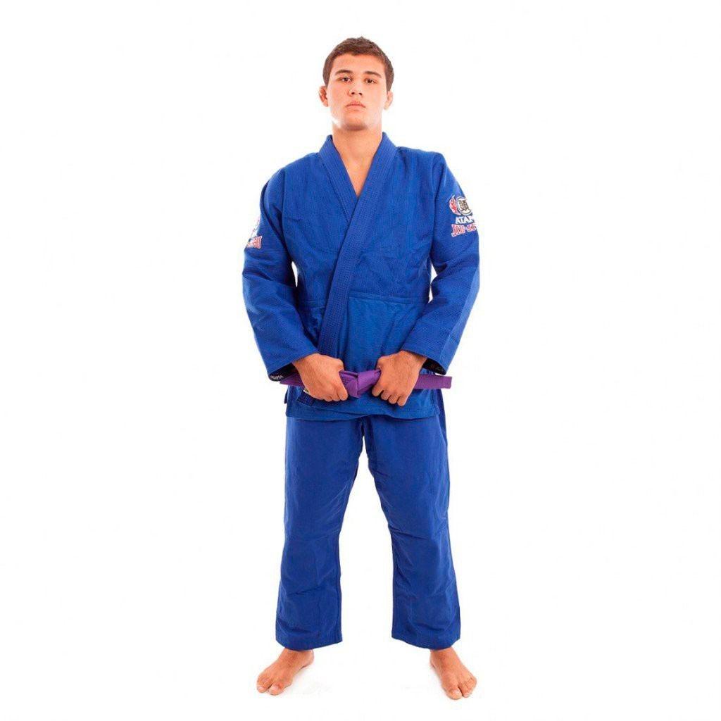 Kimono Jiu Jitsu Atama Trançado Leve Azul Adulto Unissex