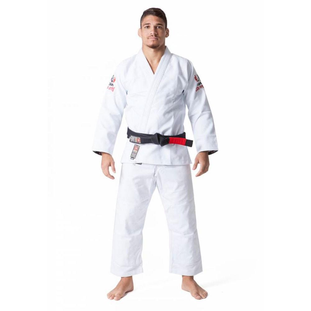 Kimono Jiu Jitsu Atama Trançado Leve Full Branco Adulto Unissex