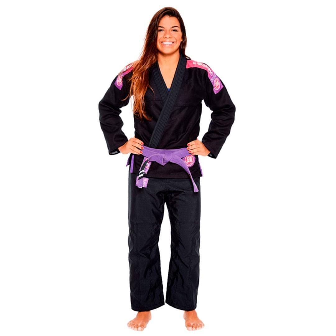 Kimono Jiu Jitsu Atama Ultra Light 2.0 Preto Feminino