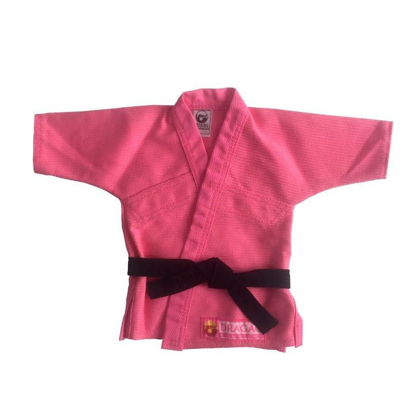 Kimono Jiu Jitsu Baby Dragão Rosa - Recem Nascido Dragão
