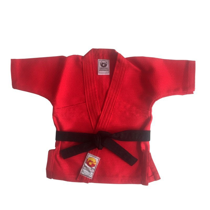 Kimono Jiu Jitsu Baby Dragão Vermelho - Recem Nascido Dragão