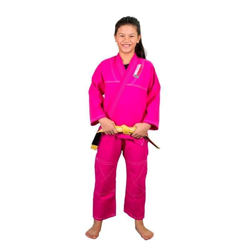 Kimono Jiu Jitsu Brazil Combat Kids Rosa Infantil