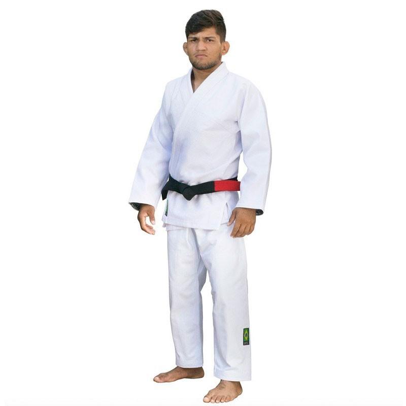 Kimono Jiu Jitsu Cascagrossa Basic Style Branco Adulto Unissex