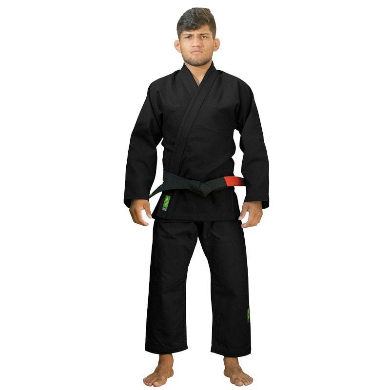 Kimono  Jiu Jitsu Cascagrossa Basic Style Preto Adulto Unissex