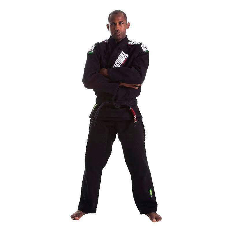 Kimono Jiu Jitsu Cascagrossa CgBjj Preto Adulto Unissex