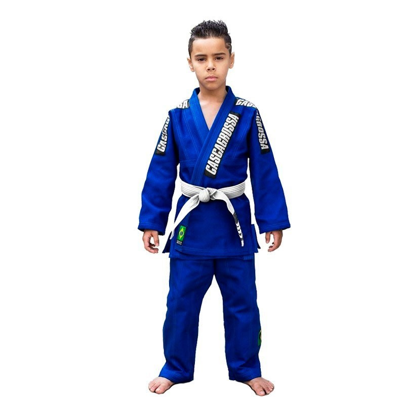kimono Jiu Jitsu Cascagrossa Original Azul Infantil