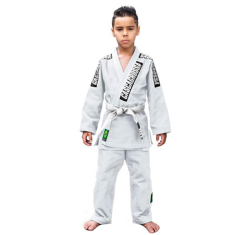 Kimono Jiu Jitsu Cascagrossa Original Branco Infantil