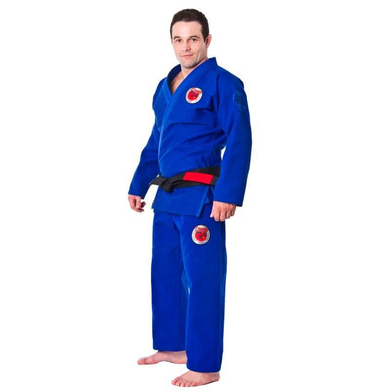 Kimono Jiu Jitsu Dragao Arm Lock Azul Adulto Unissex