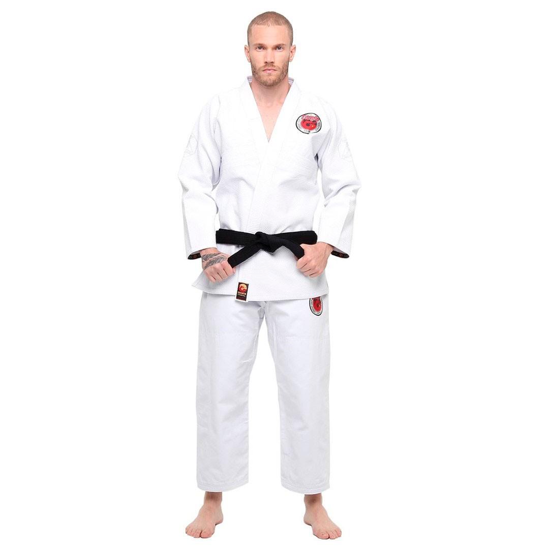 Kimono Jiu Jitsu Dragao Arm Lock Branco Adulto Unissex