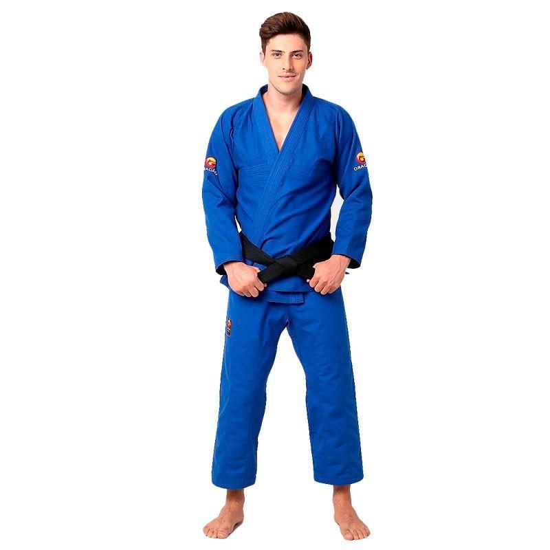 Kimono Jiu Jitsu Dragão Classic Azul Adulto Unissex