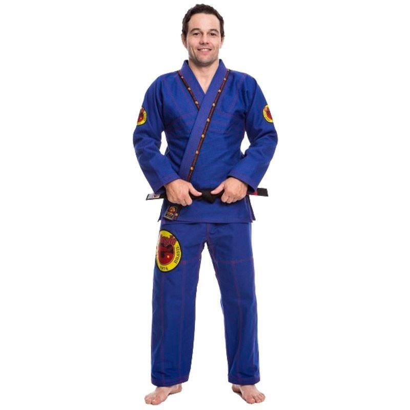 Kimono Jiu Jitsu Dragão Elite Azul Adulto Unissex