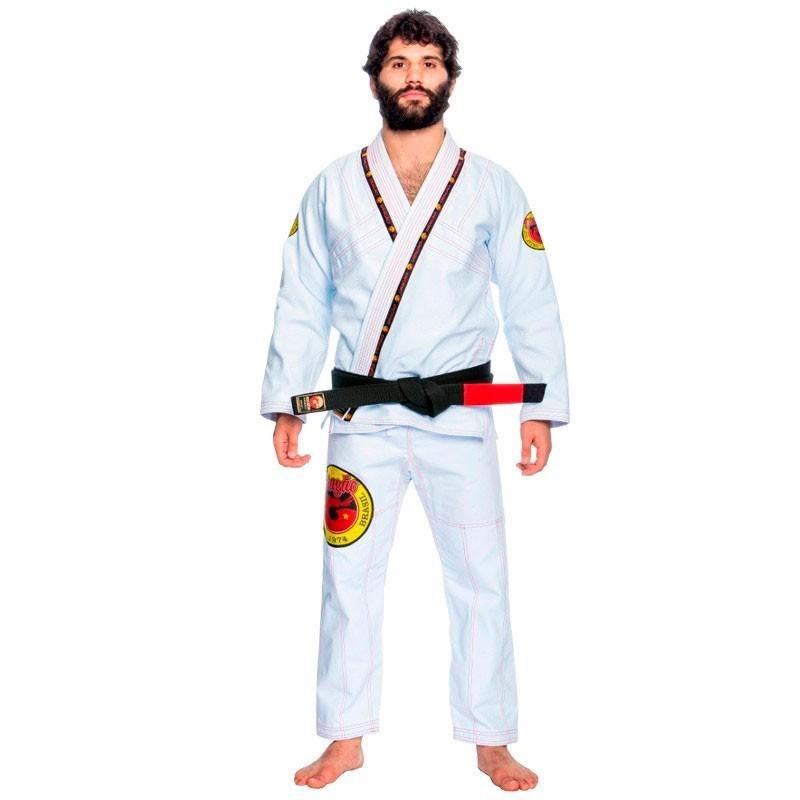 Kimono Jiu Jitsu Dragão Elite Branco Adulto Unissex