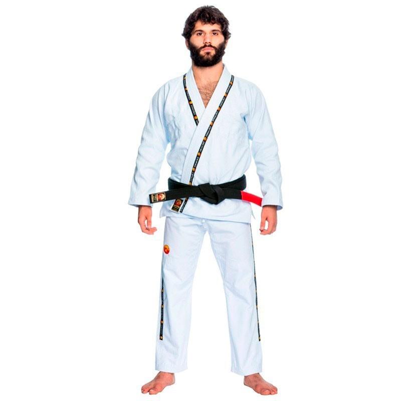 Kimono Jiu Jitsu Dragão King Branco Adulto Unissex