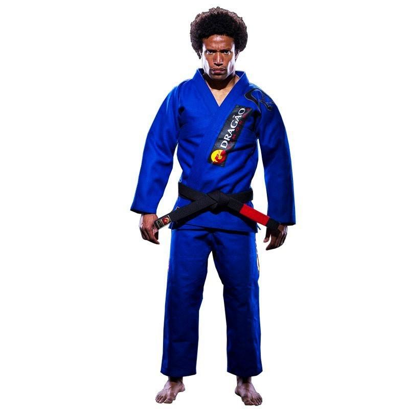 Kimono Jiu Jitsu Dragão Tribal Azul Adulto Unissex