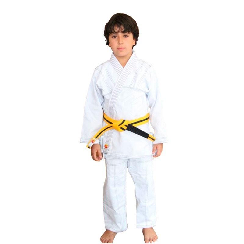 Kimono Jiu Jitsu Dragão Yuri Branco Infantil