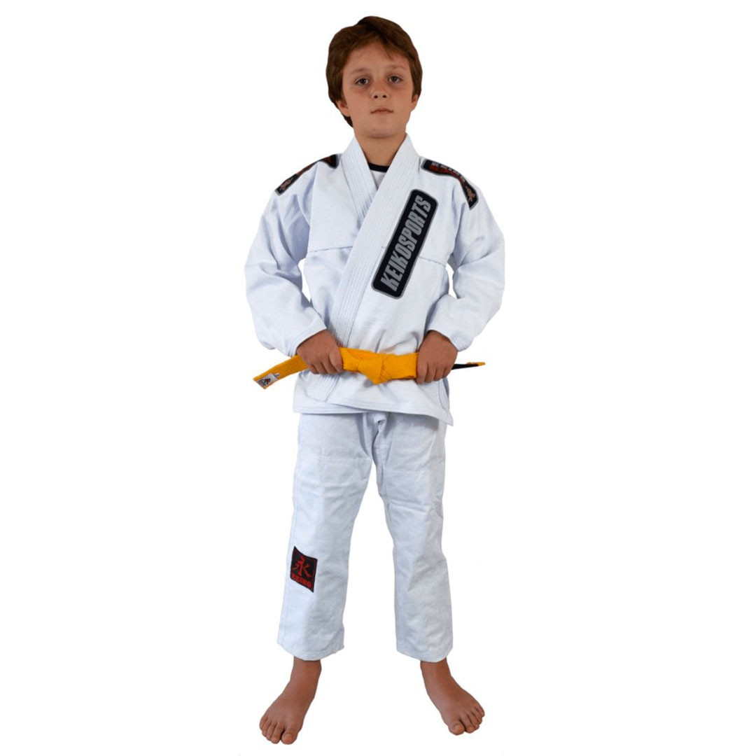 Kimono Jiu Jitsu Keiko Juvenil Pro Branco Infantil