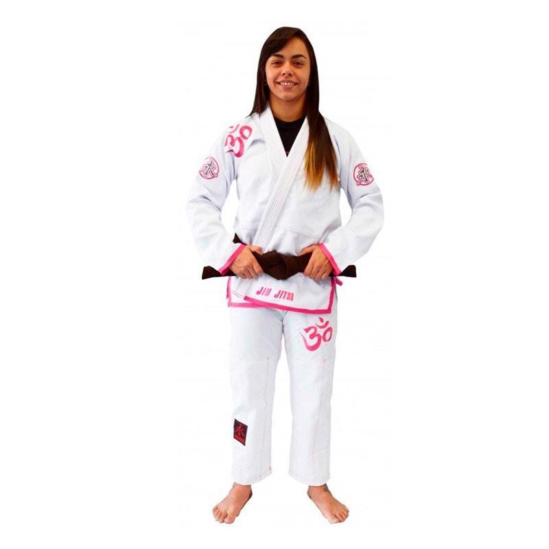 Kimono Jiu Jitsu Keiko Omm Branco Feminino