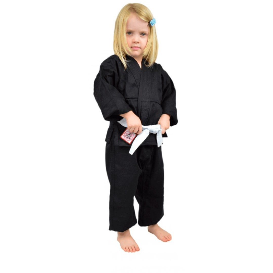 Kimono Jiu Jitsu Keiko Universal Preto Infantil