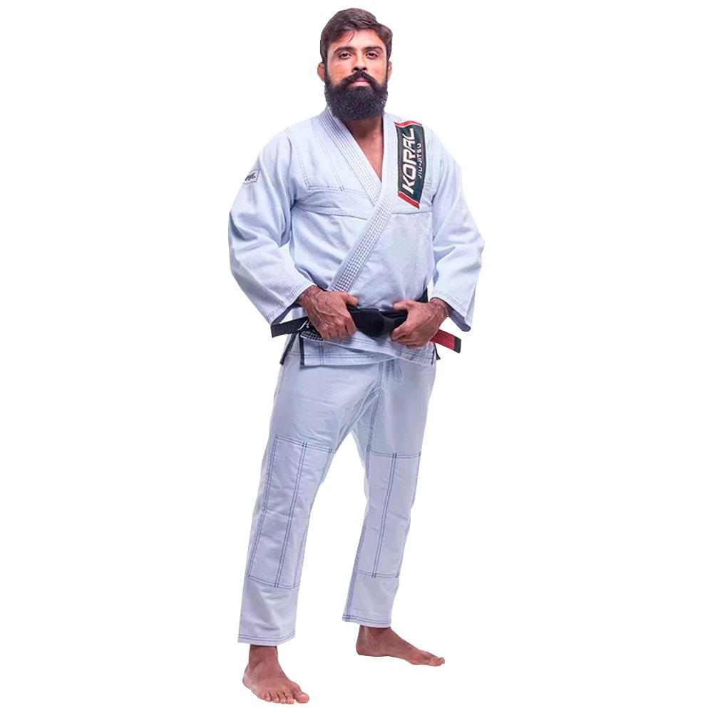 Kimono Jiu Jitsu Koral Classic Slim Fit Branco Adulto Unissex