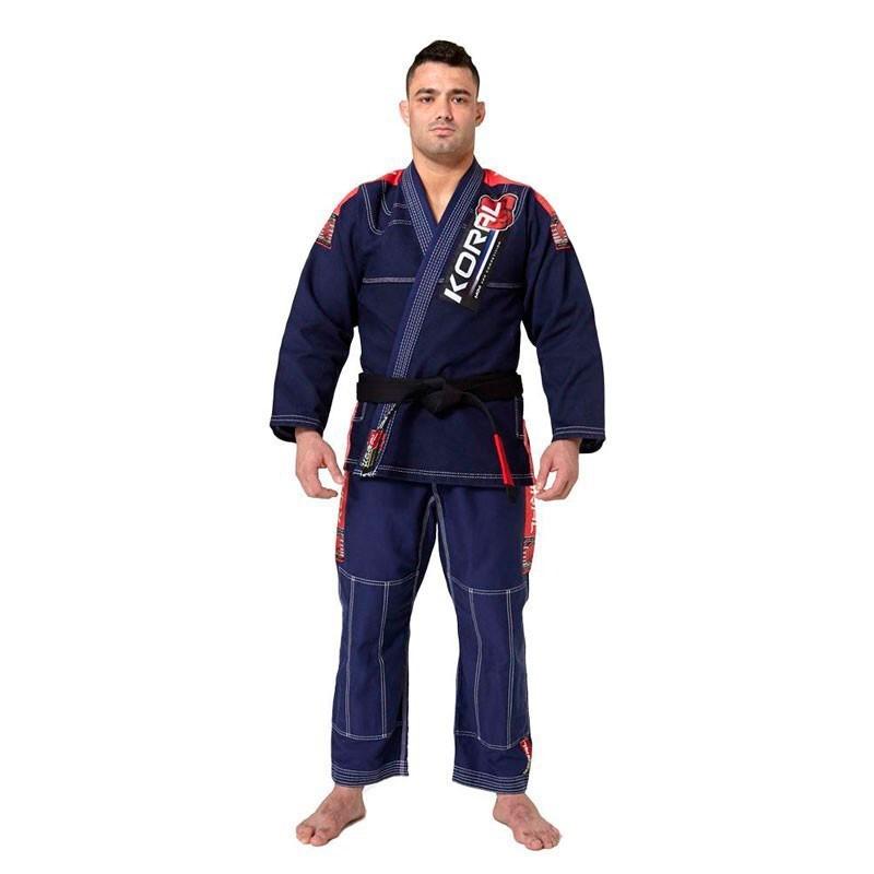 Kimono Jiu Jitsu Koral MKM Competition Azul Marinho Adulto Unissex