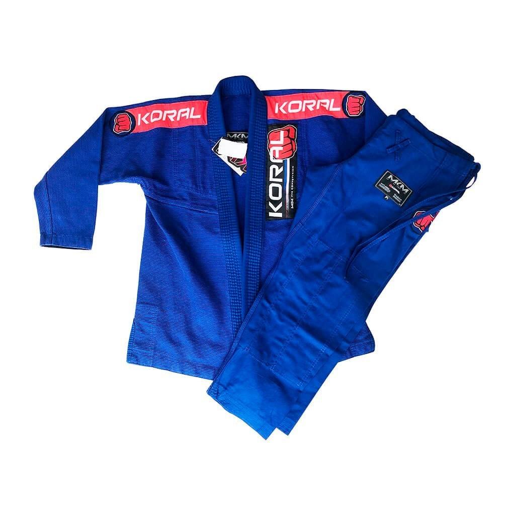 Kimono Jiu Jitsu Koral Novo MKM Harmonik Azul Feminino