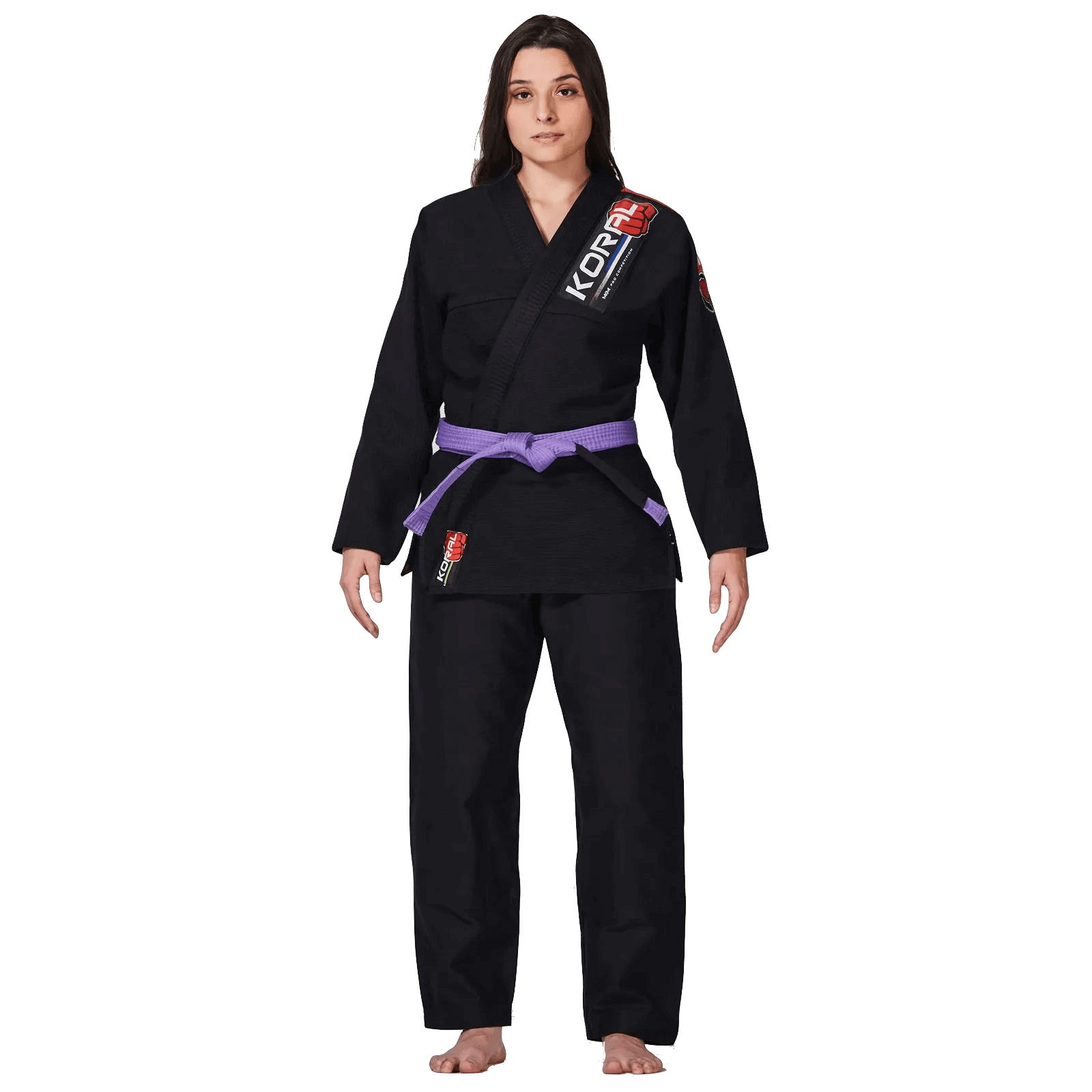 Kimono Jiu Jitsu Koral Novo MKM Harmonik Preto Feminino