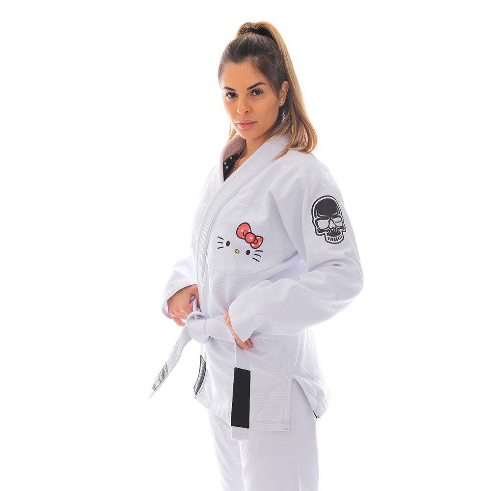 Kimono Jiu Jitsu KVRA Hello Kitty Branco Feminino