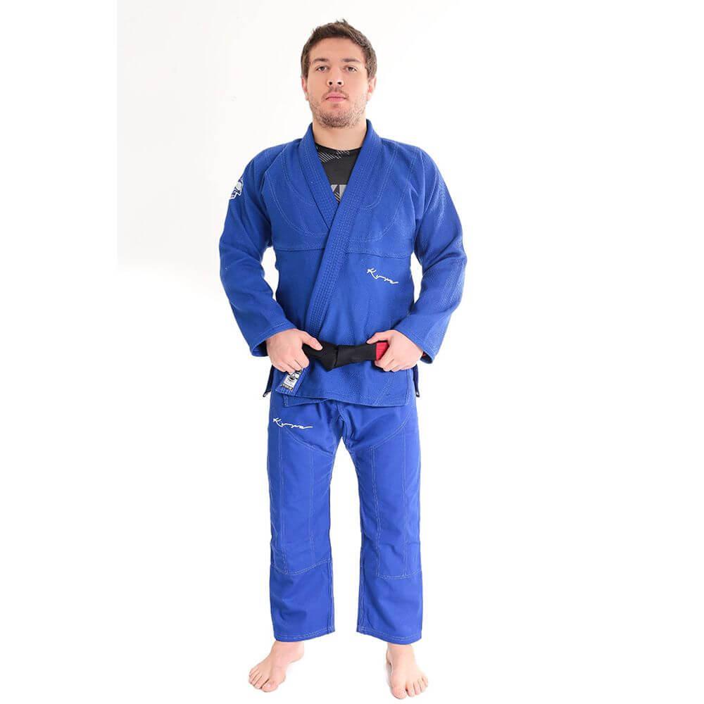 Kimono Jiu Jitsu Kvra Originals Azul Adulto Unissex