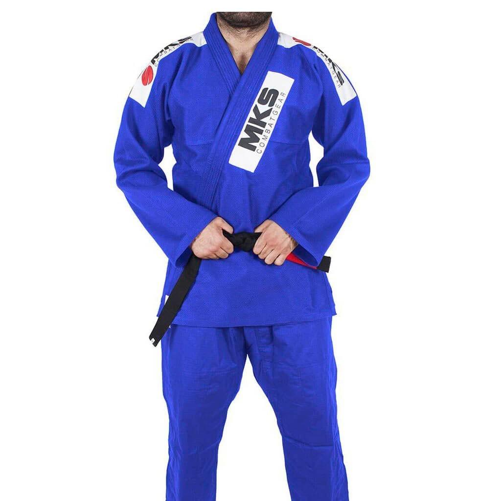 Kimono Jiu Jitsu Mks Combat Gear Azul