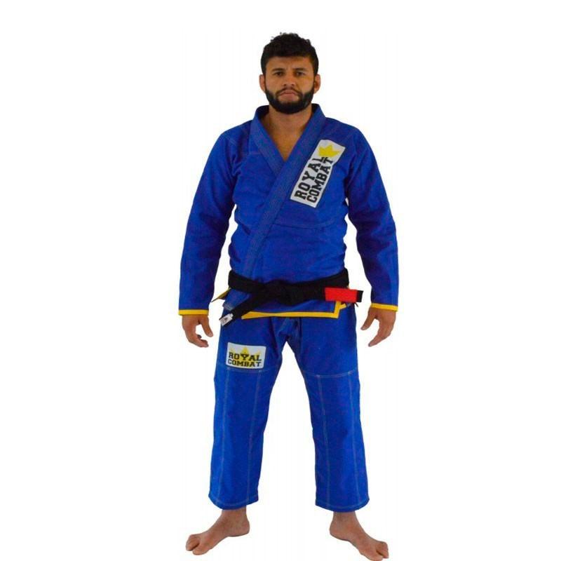 Kimono Jiu Jitsu Royal Combat Light Series Azul Adulto Unissex