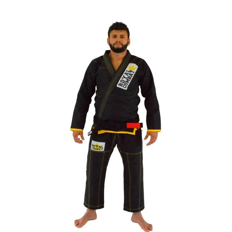 Kimono Jiu Jitsu Royal Combat Light  Series Preto Adulto Unissex