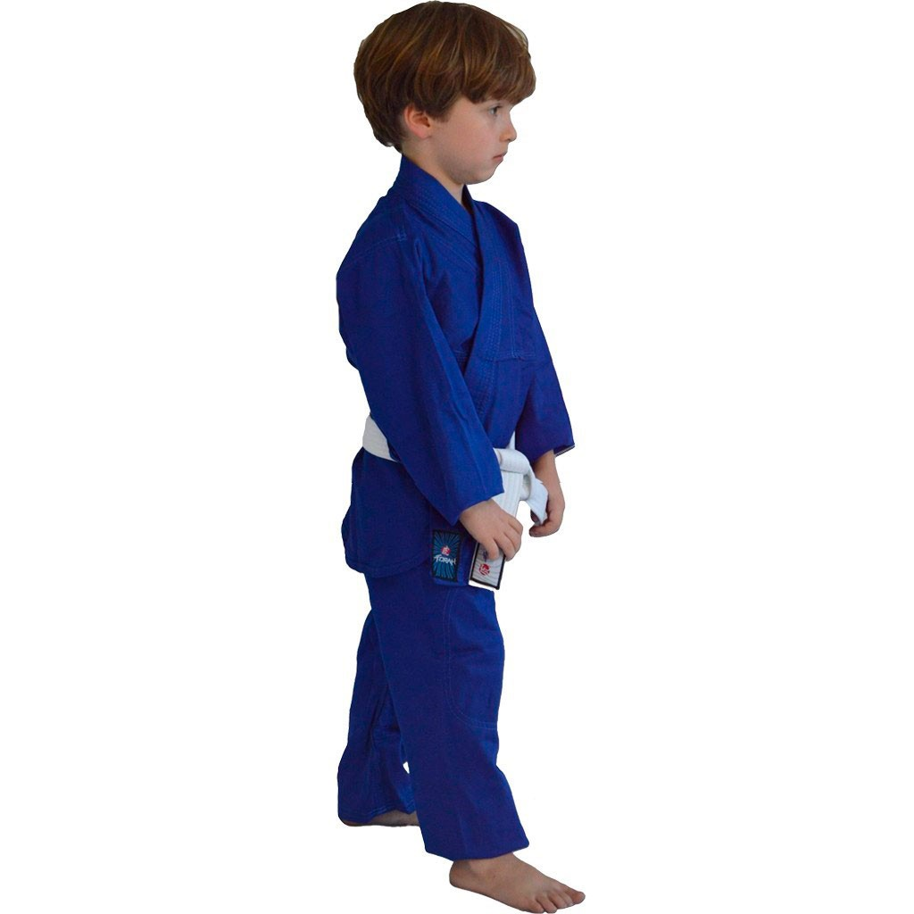 Kimono Jiu Jitsu Torah Kids Combate Azul Infantil