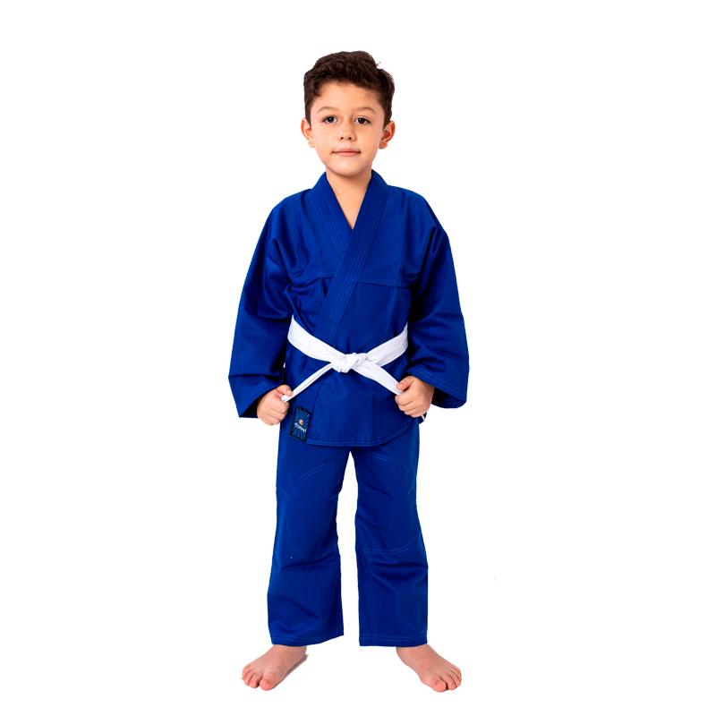 Kimono Torah Kids Combate Azul Infantil Com Faixa