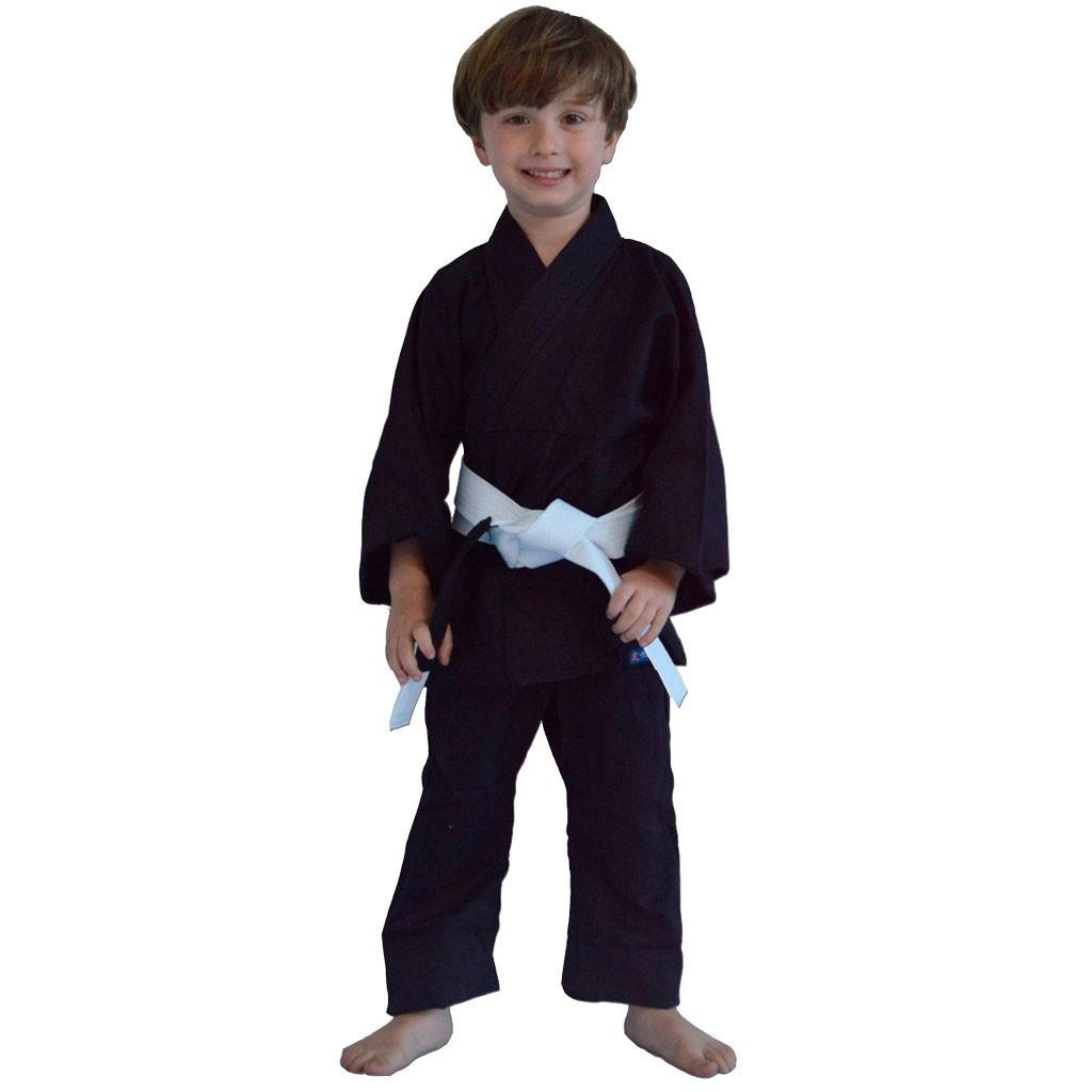 Kimono Jiu Jitsu Torah Kids Combate Preto Infantil