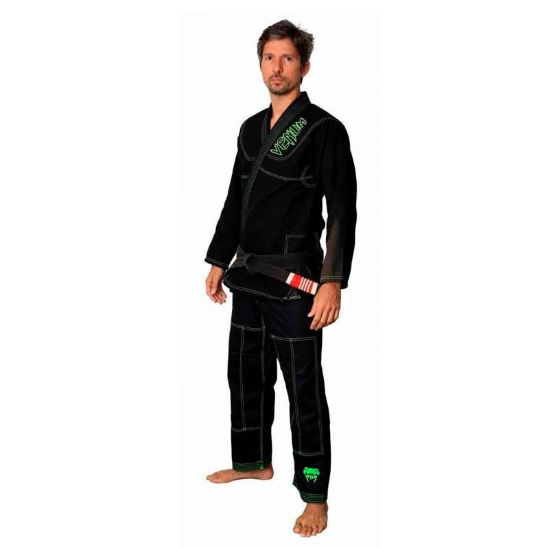Kimono Jiu Jitsu Venum Competidor Brasil Preto Adulto Unissex