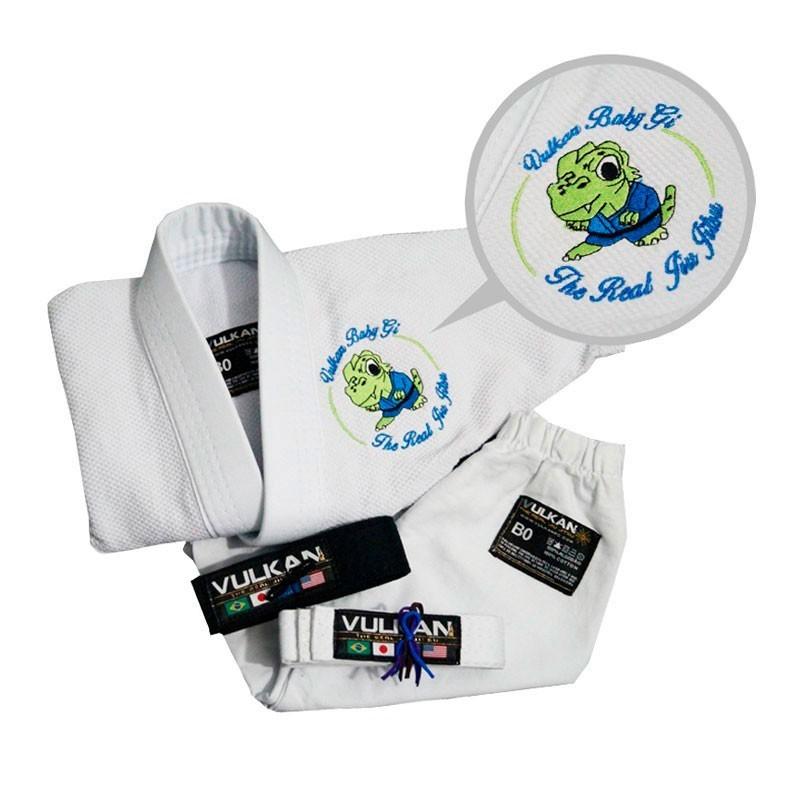 Kimono Jiu Jitsu Vulkan Baby Real Branco Recem Nascido
