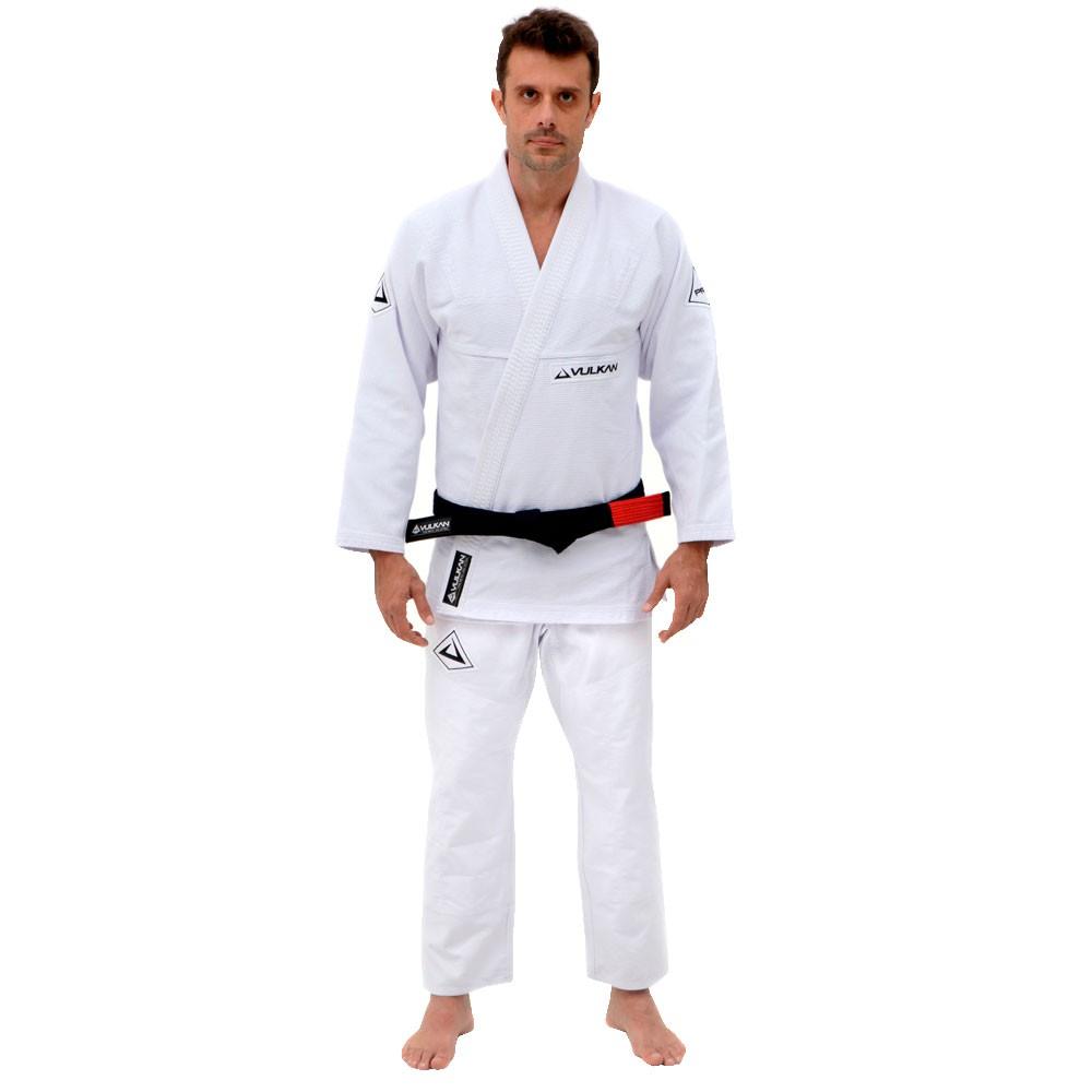 Kimono Jiu Jitsu Vulkan Pro Evolution Branco Adulto Unissex
