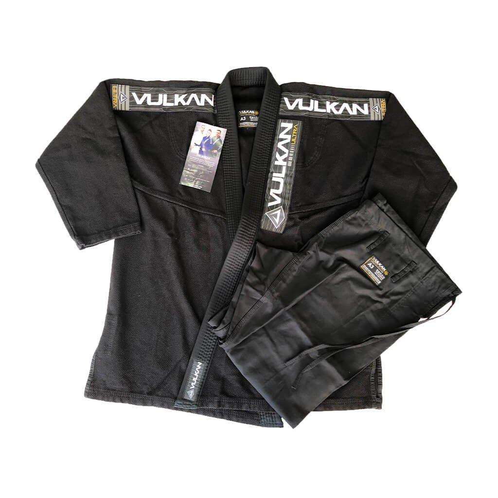 Kimono Jiu Jitsu Vulkan Ultra Light Preto Adulto Unissex