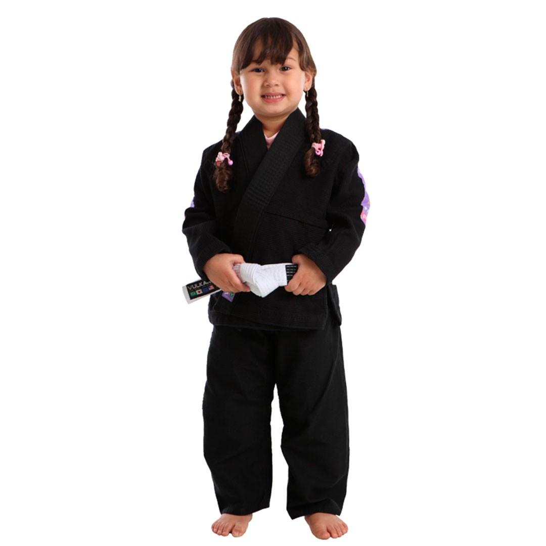 Kimono Jiu Jitsu Vulkan Vkn Pro Preto Lilás Infantil