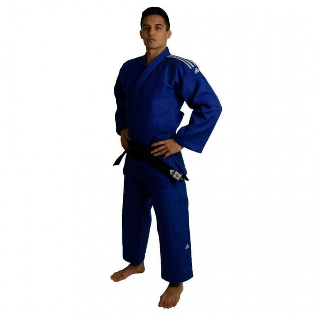 Kimono Judo Adidas Champion II  Azul Selo IFJ Adulto Unissex