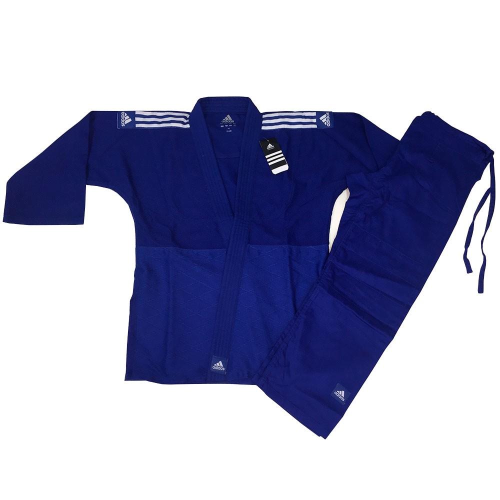 Kimono Judo Adidas Uniform Club J350 Azul Adulto Unissex
