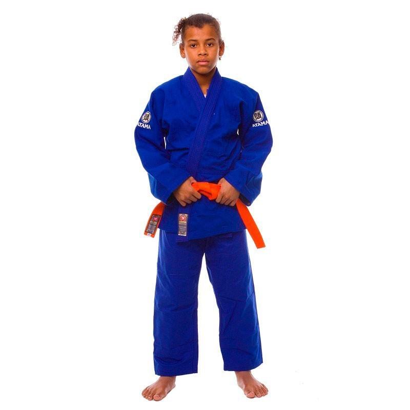 Kimono Judo Atama Trançado Leve Azul Infantil
