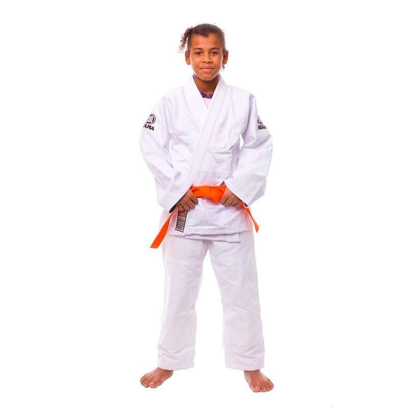 Kimono Judo Atama Trançado Leve Branco Infantil