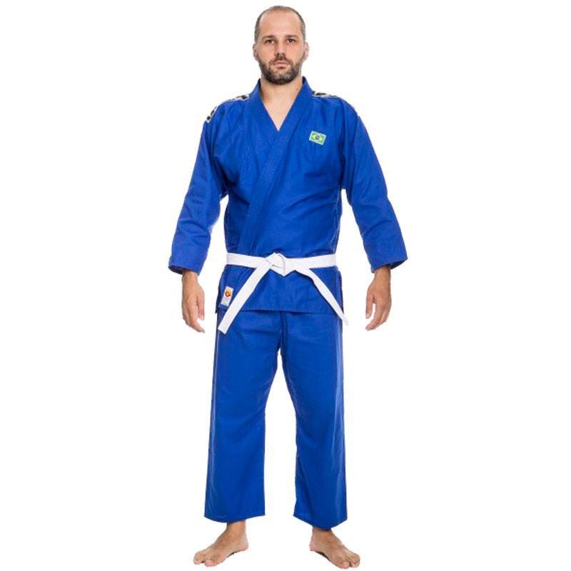 Kimono Judô Dragão Teen Azul Adulto Unissex