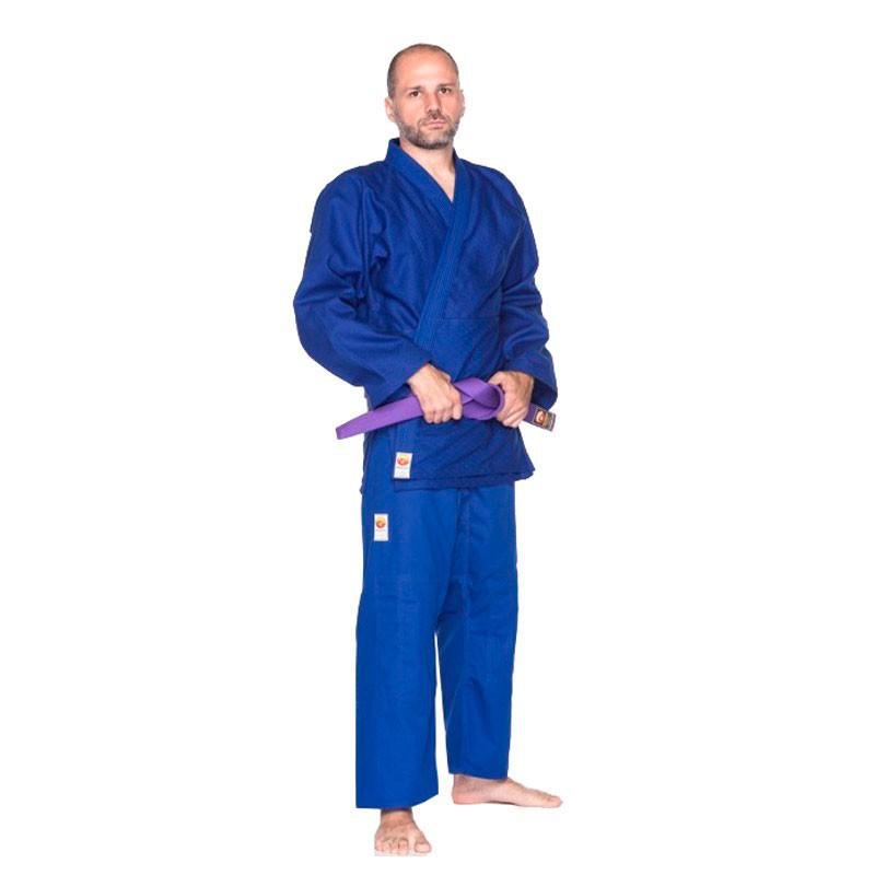 Kimono Judô Dragão Bronze Azul Adulto
