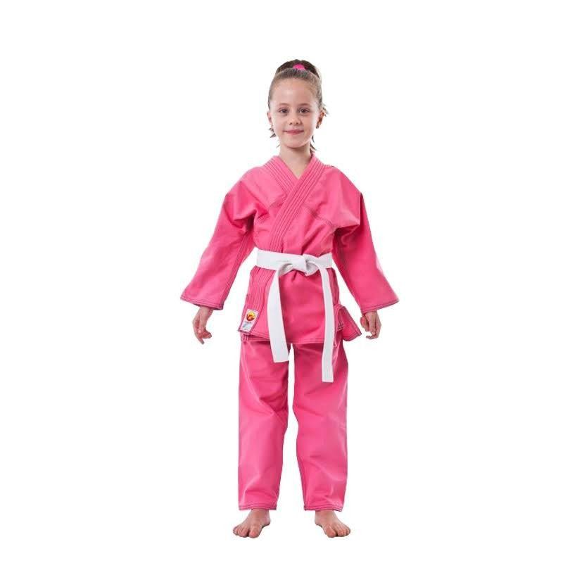 Kimono Judo Dragão Kids Rosa Com Faixa Infantil
